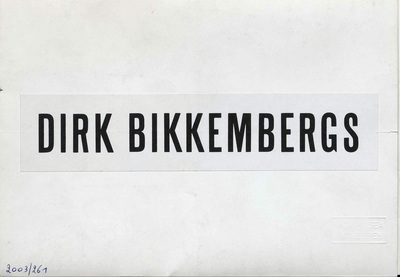 Mode homme, l'avenir de la femme = Male fashion, the future of woman Bedr. Cat. : Dirk Bikkembergs : Collectie L/Z 1994 :