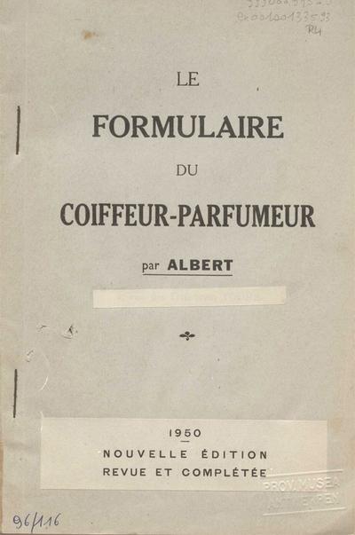 Le formulaire du coiffeur-parfumeur :