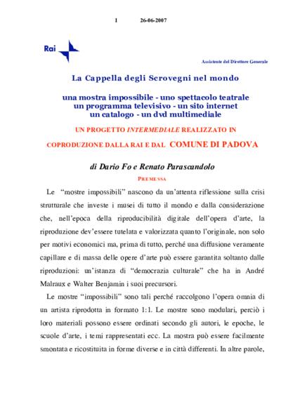 Testi Giotto non Giotto: Lezione-spettacolo di Dario Fo  2009