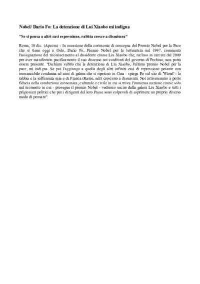 Articoli Premio Nobel per la Letteratura - 1997