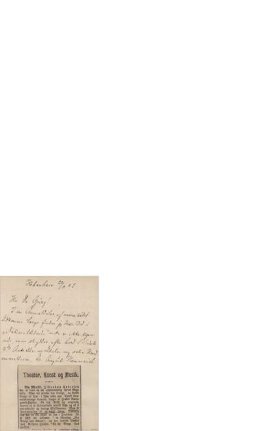 Brev, 1905 11.22, København, til Edvard Grieg