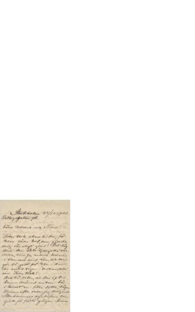 Brev, 1903 12.25, Stockholm, til Edvard Grieg
