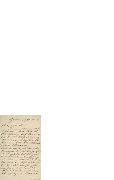 Brev, 1904 04.09, Gøteborg, til Edvard Grieg