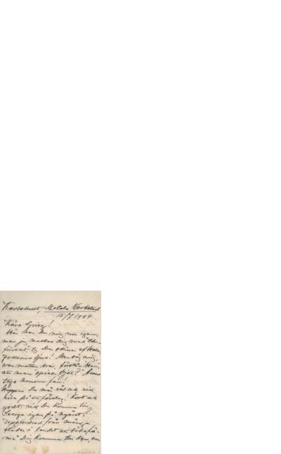 Brev, 1904 07.15, Karlshult, til Edvard Grieg