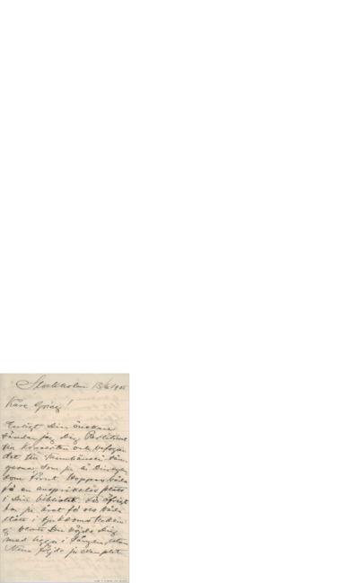 Brev, 1905 06.13, Stockholm, til Edvard Grieg