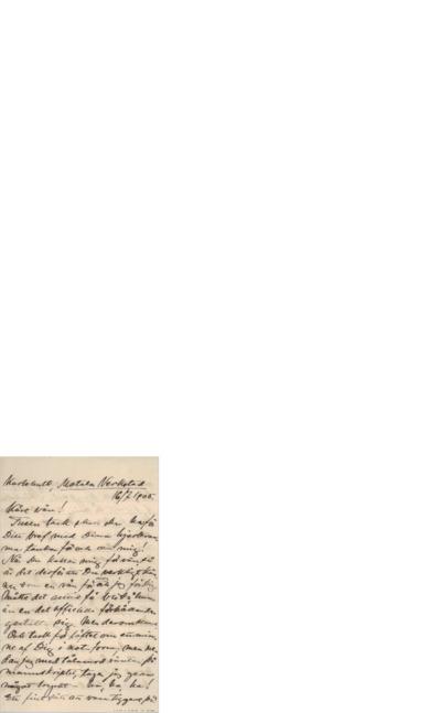 Brev, 1905 07.16, Karlhult, til Edvard Grieg