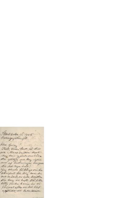 Brev, 1906 01.01, Stockholm. til Edvard Grieg
