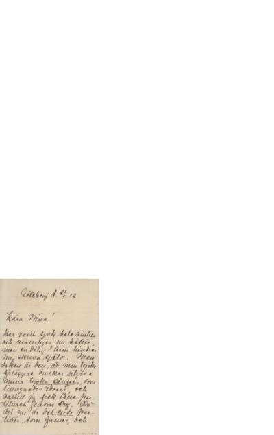 Brev, 1912 05.23, Gøteborg, til Nina Grieg