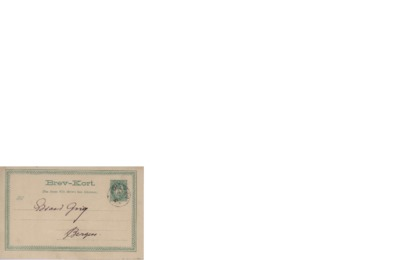 Brevkort, udatert, Follebu, til Edvard Grieg, Bergen