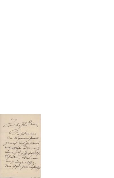 Brev, 1907, til Edvard Grieg