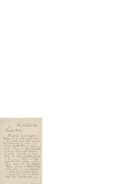 Brev, 1891 08.25, Wien, til Edvard Grieg