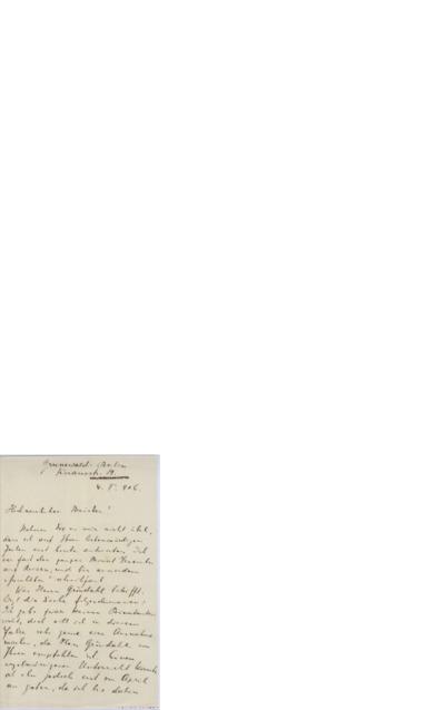 Brev, 1906 01.04, Berlin, til Edvard Grieg