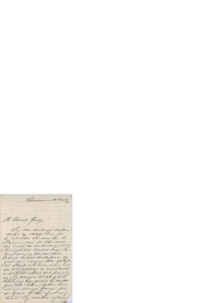 Brev, 1882 03.14, Kristiania, Edvard Grieg