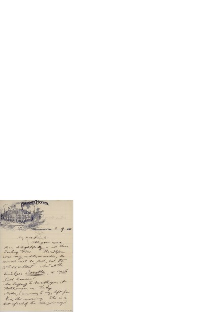 Brev, 1911 09.11, Kristiansund, til Nina Grieg