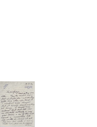 Brev, 1912 08.14, London, til Nina Grieg