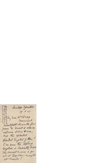 Brev, 1907 08.19, Svinkløv, til Nina Grieg