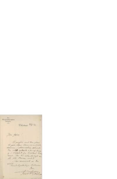 Brev, 1890 08.26, Kristiania, Edvard Grieg
