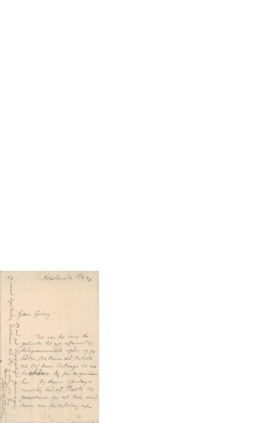 Brev, 1890 09.15, Kristiania, Edvard Grieg