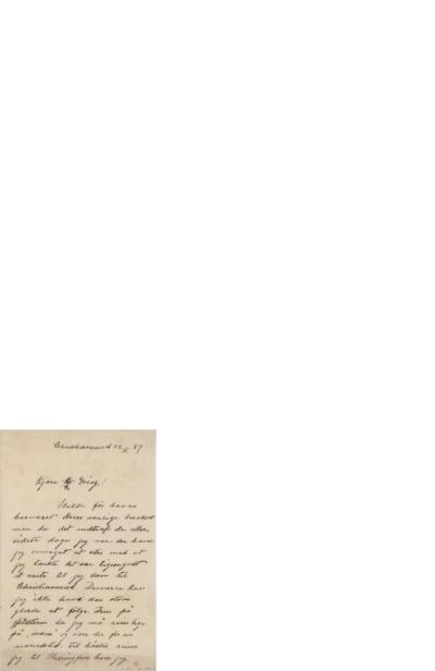 Brev, 1889 06.22, Kristiansand, til Edvard Grieg