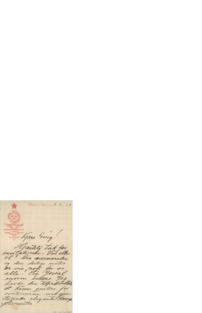 Brev, 1903 06.03, Stockholm, til Edvard Grieg