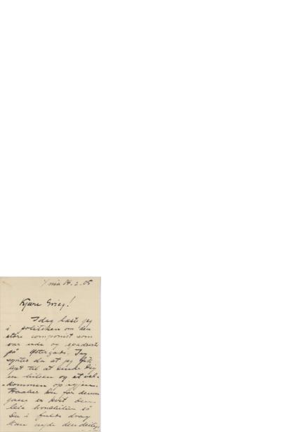 Brev, 1905 02.14, Kristiania, til Edvard Grieg