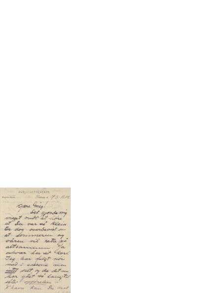 Brev, 1905 03.07, Kristiannia, til Edvard Grieg