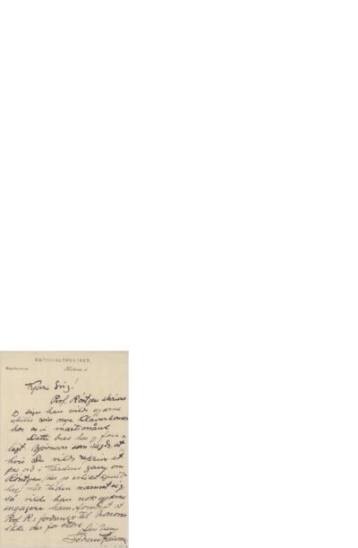 Brev udatert, Kristiania, til Edvard Grieg