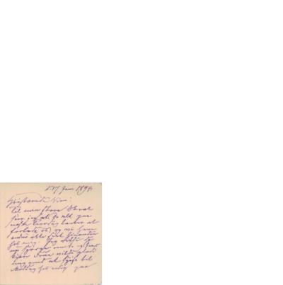 Brev, 1894 01.17, Edvard Grieg