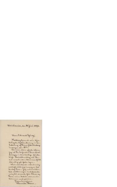 Brev, 1893 06.14, Kristiania, til Edvard Grieg