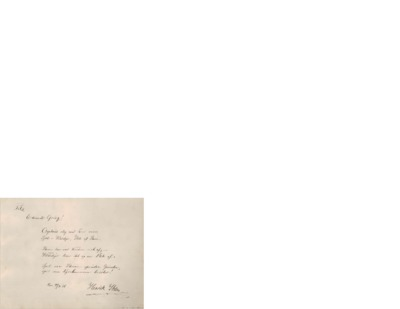 Till Edvard Grieg : Orpheus slo med toner rene, Sjæl i Vilddyr, Uld af Stene. Stene har vort Norden nok af, Vilddyr har det og en Flok af. Spil saa Stenen spruder Gnister; spil saa Dyrehammen brister!; Hilsen til Edvard...