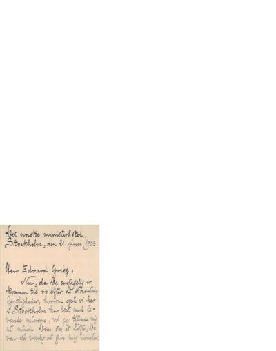 Brev, 1903 06.21, Stockholm, Edvard Grieg