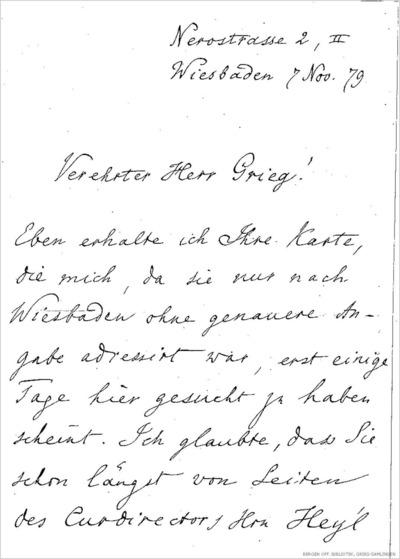 Brev, 1879 11.07, Wiesbaden, til Edvard Grieg