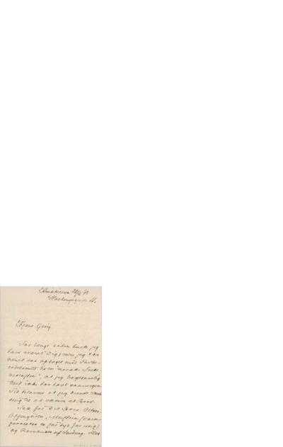 Brev, 1898 04.22, Kristiania, til Edvard Grieg