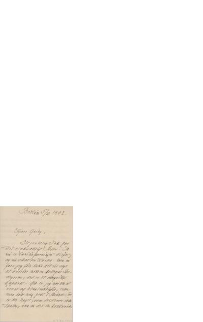 Brev, 1902 10.05, Bestum, til Edvard Grieg