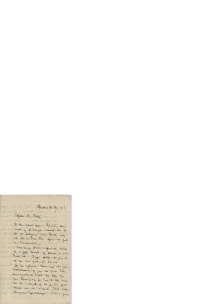 Brev, 1903 08.20, Lysaker, til Edvard Grieg