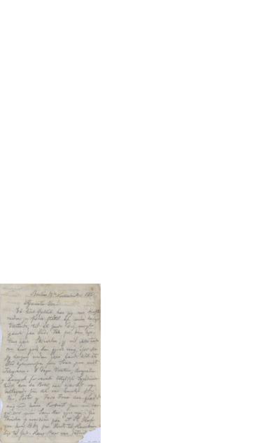 Brev, 1865 11.12, Berlin, Edvard Grieg
