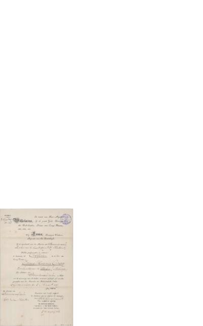 Anbefalinger, ordener, diplomer etc., 1897 03.03, Gravenhage, til Edvard Grieg, Bergen