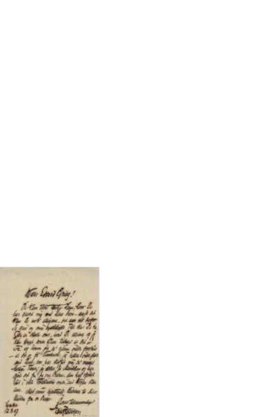 Brev, 1907 03.12, Lysaker, til Edvard Grieg