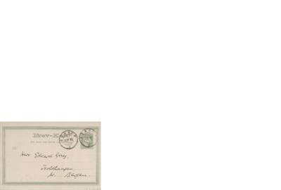 Postkort, 1890 08.28, Bergen, til Edvard Grieg