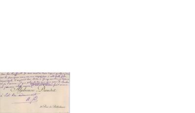 Visittkort, udatert,  til Jean Francois Raffaëlli