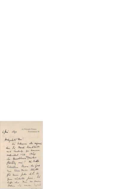 Brev, 1893 06.06, Kensington, til Edvard Grieg