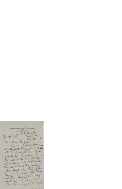 Brev, 1896 01.20, London, til Edvard Grieg