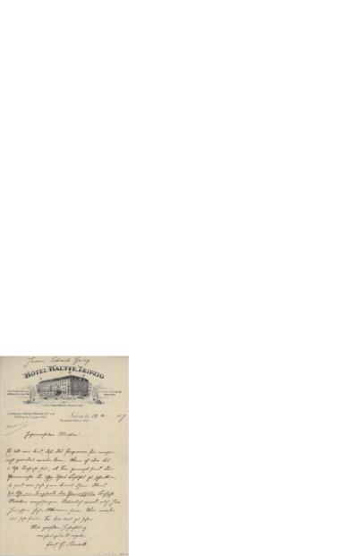 Brev, 1907 04.19, Leipzig, til Edvard Grieg