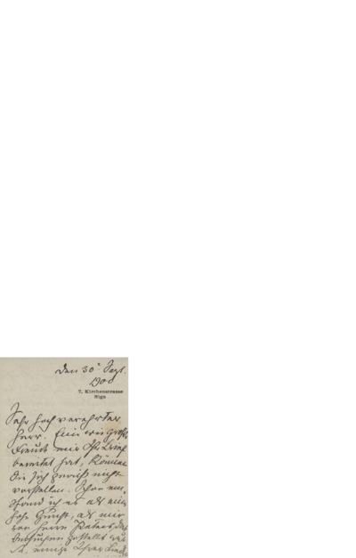 Brev,1900 08.30, Riga, til Edvard Grieg