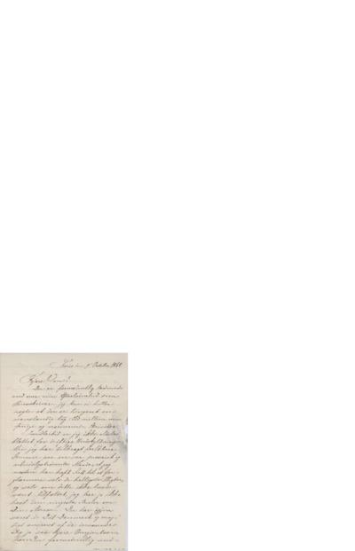 Brev, 1868 10.09, Paris, Edvard Grieg
