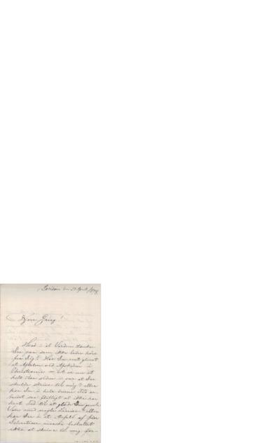 Brev, 1878 04.25, London, Edvard Grieg