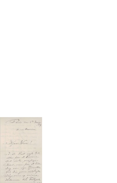 Brev, 1879 01.06, Paris, Edvard Grieg