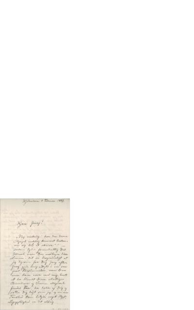 Brev, 1887 02.09, København, Edvard Grieg