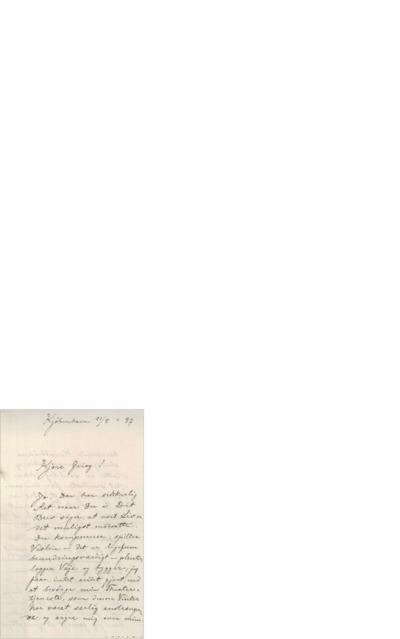 Brev, 1887 05.21, København, Edvard Grieg