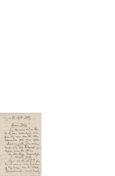 Brev, 1895 09.25, Dieppe, til Edvard Grieg